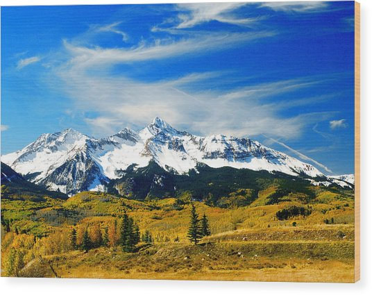 Rocky Mt. High Wood Print