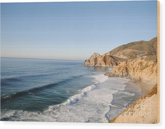 Rocky Pacific Coast Wood Print