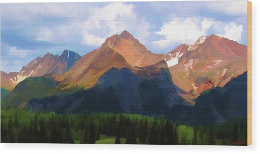 Rocky Red Mountains Wood Print