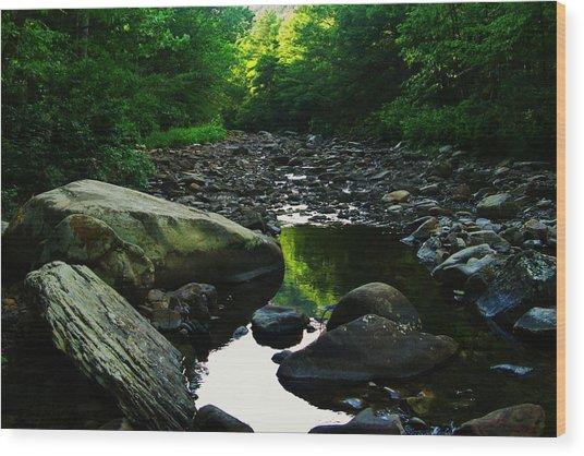 Rocky River Wood Print by Joyce Kimble Smith