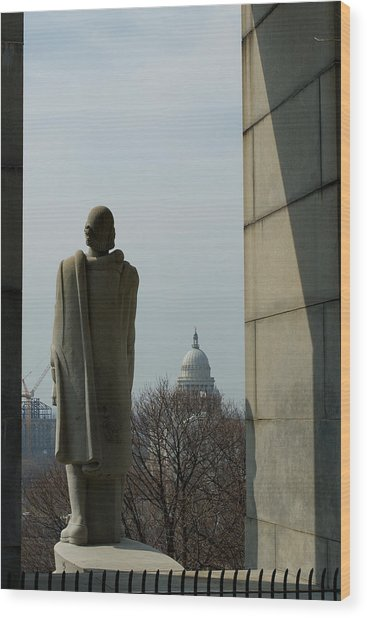 Roger Williams And His Capitol Wood Print