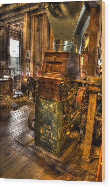 Roller Mill Wood Print