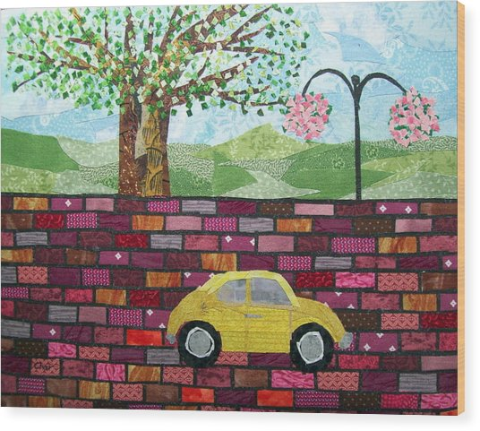Rolling On The Bricks Wood Print by Charlene White