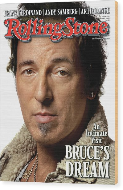 Rolling Stone Cover - Volume #1071 - 2/5/2009 - Bruce Springsteen Wood Print