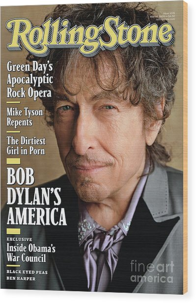 Rolling Stone Cover - Volume #1078 - 5/14/2009 - Bob Dylan Wood Print