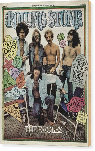 Rolling Stone Cover - Volume #196 - 9/25/1975 - The Eagles Wood Print