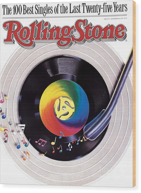 Rolling Stone Cover - Volume #534 - 9/8/1988 - 100 Greatest Singles Wood Print by Steve Pietzsch