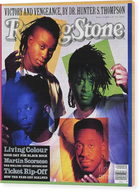 Rolling Stone Cover - Volume #590 - 11/1/1990 - Living Colour Wood Print
