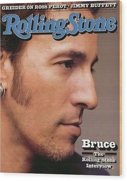 Rolling Stone Cover - Volume #636 - 8/6/1992 - Bruce Springsteen Wood Print