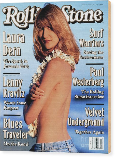 Rolling Stone Cover - Volume #659 - 6/24/1993 - Laura Dern Wood Print