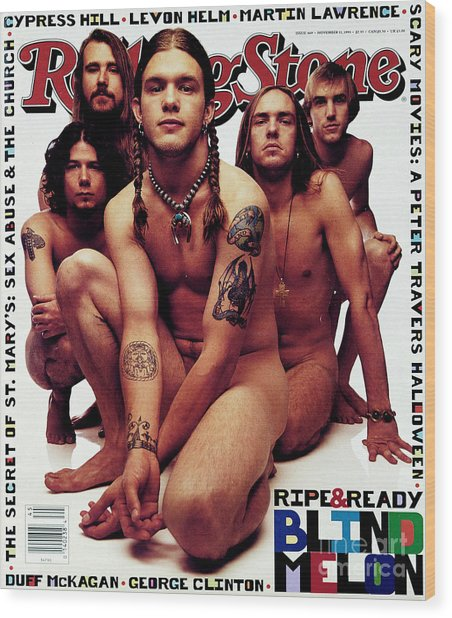 Rolling Stone Cover - Volume #669 - 11/11/1993 - Blind Melon Wood Print by Mark Seliger