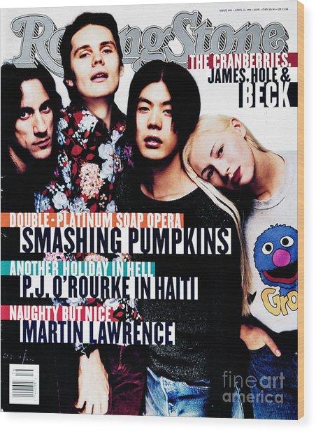 Rolling Stone Cover - Volume #680 - 4/21/1994 - Smashing Pumpkins Wood Print