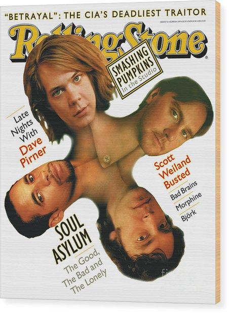 Rolling Stone Cover - Volume #711 - 6/29/1995 - Soul Asylum Wood Print