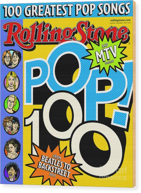 Rolling Stone Cover - Volume #855 - 12/7/2000 - Pop 100 Wood Print