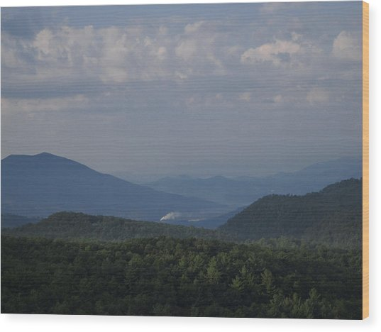 Rolling Through The Blue Ridge Wood Print by Victoria Ashley