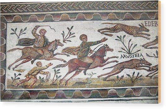 Roman Mosaic Wood Print by Sheila Terry