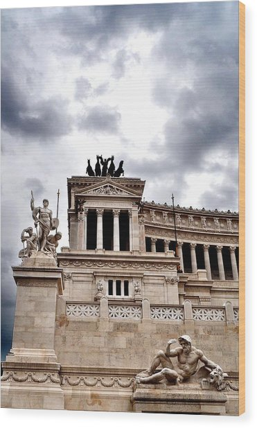 Rome Capitol Building Wood Print by Heather Marshall