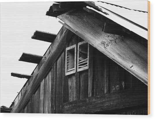 Roof Top Wood Print by Loretta Justice