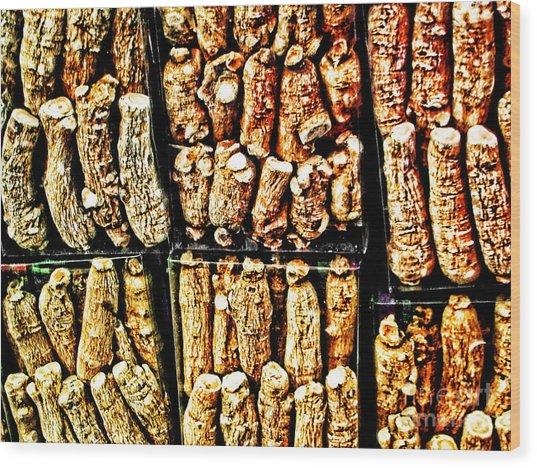 Roots Wood Print by Anne Ferguson