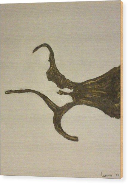 Roots Wood Print by Montserrat Lopez Ortiz