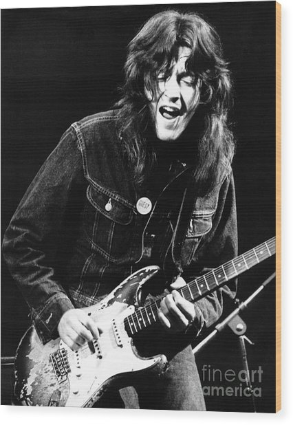 Rory Gallagher 1971 Wood Print