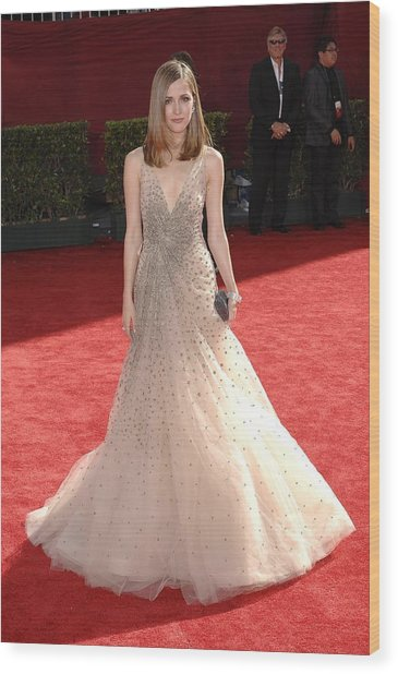 Rose Byrne Wearing A Valentino Gown Wood Print by Everett