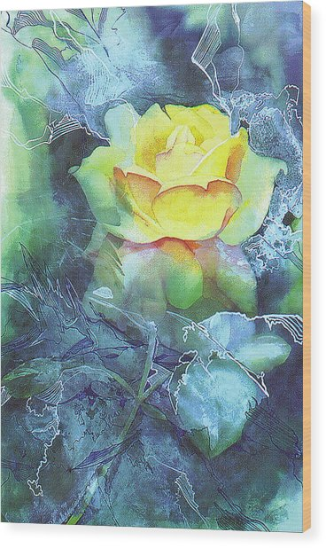 Rose Wood Print by Eunice Olson
