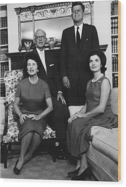 Rose Kennedy, Joseph P. Kennedy, John Wood Print by Everett