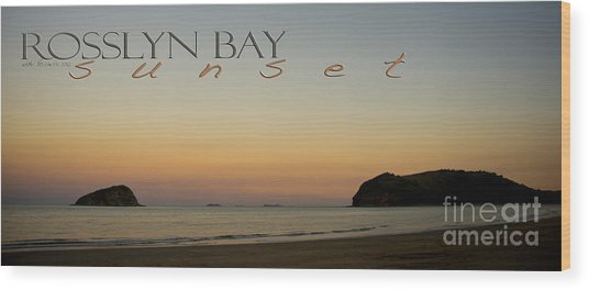 Wood Print featuring the photograph Rosslyn Bay Sunset by Vicki Ferrari