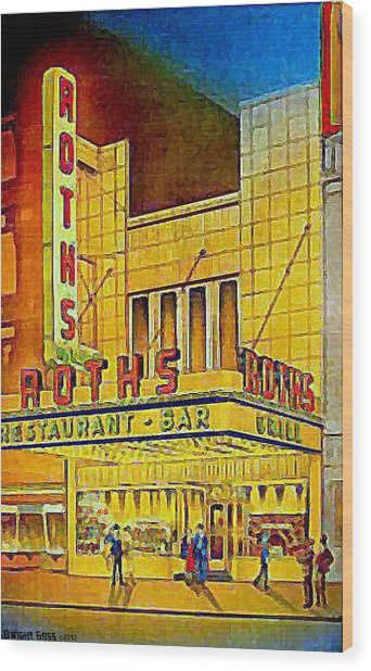 Roth's Restaurant In New York City In 1939 Wood Print by Dwight Goss