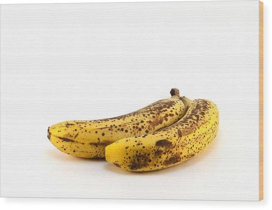 Rotten Bananas Wood Print