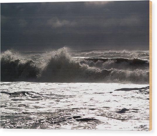 Rough Waves 2 Wood Print