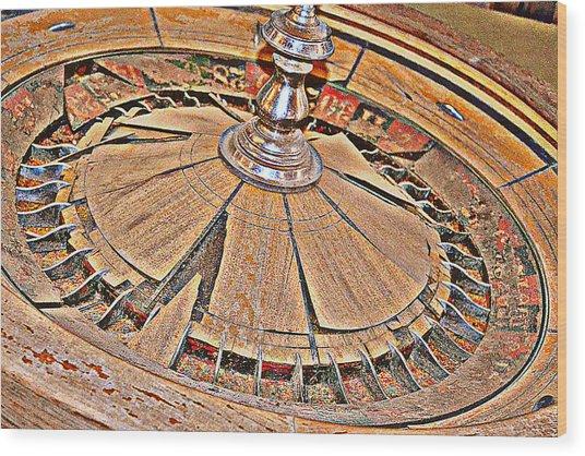 Round And Round We Go Wood Print