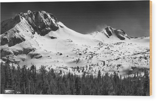 Round Top Mountain Wood Print by A A