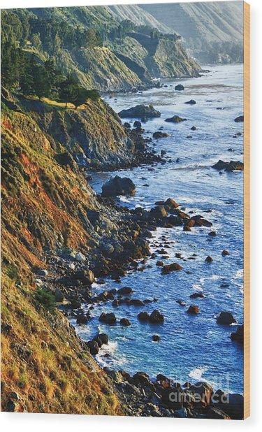 Route 1 Coastline Wood Print