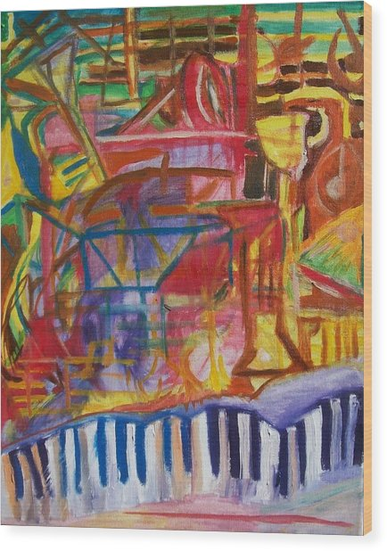 Routes Of Jazz Wood Print by James Christiansen