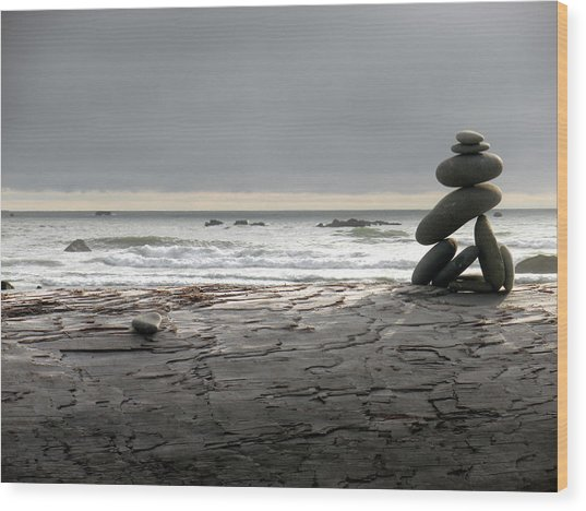 Ruby Beach 1 Wood Print by Fred Russell