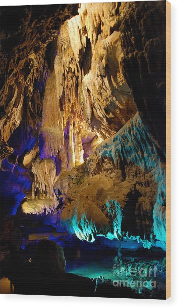 Ruby Falls Cavern 2 Wood Print