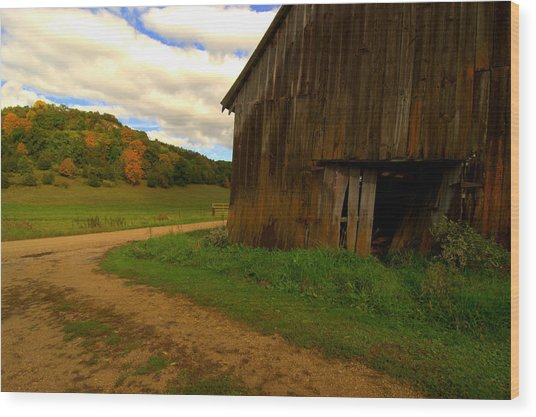 Rural Fixer-upper Wood Print by Susan Camden