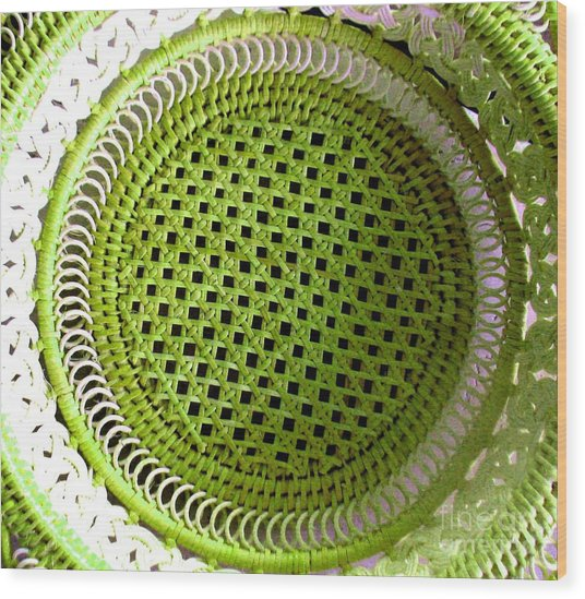 Russian Basket Wood Print
