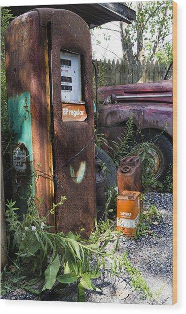 Rust Never Sleeps 2 Wood Print by Peter Chilelli