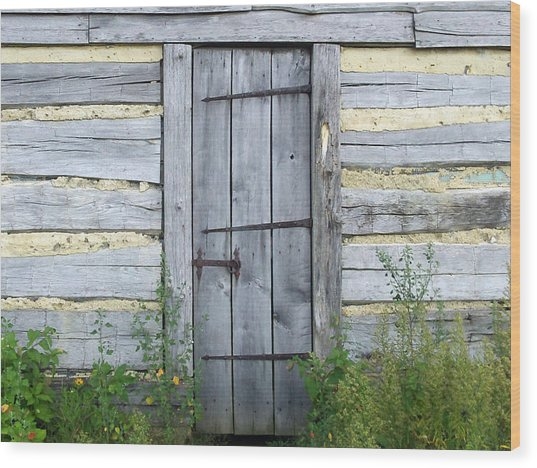 Rustic Door Wood Print