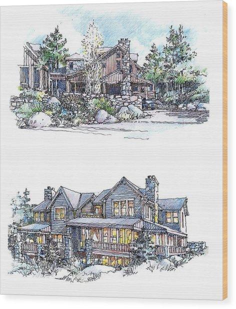 Rustic Home Wood Print
