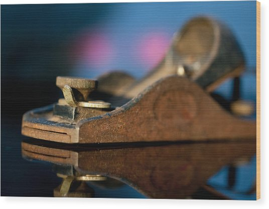 Rusty Plane Wood Print