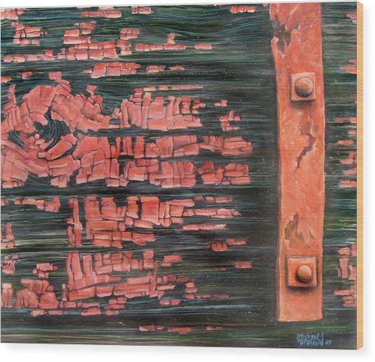 Rusty Red Rider Wood Print