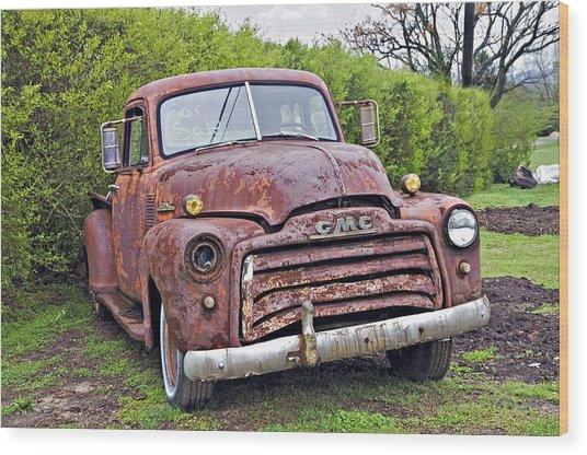 Sad Truck Wood Print