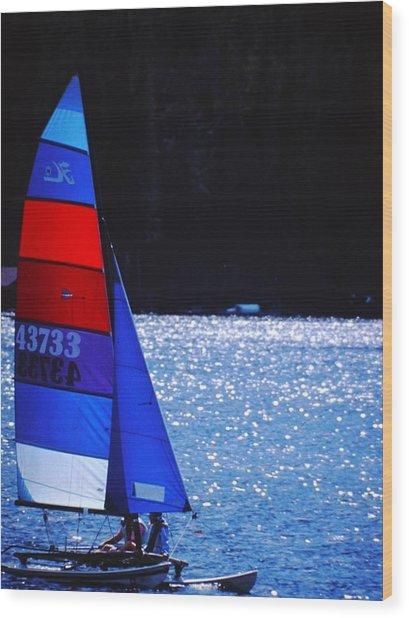 Sail Away Wood Print by Richard Stillwell