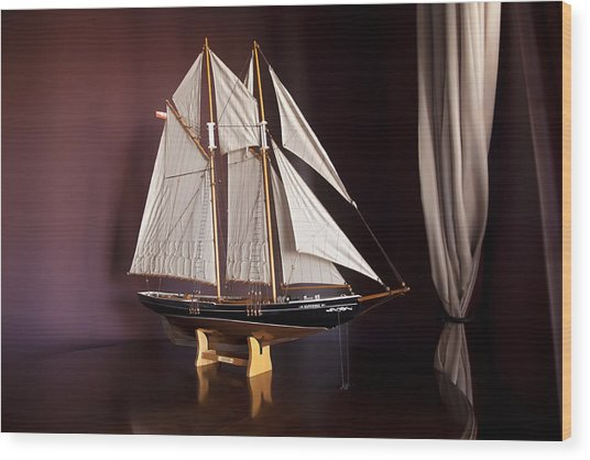 Sail Boat Wood Print by Miguel Capelo