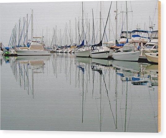 Sailboat Reflections Wood Print by Gil Kanat