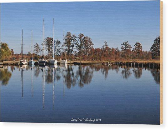 Sailboats Wood Print by Larry Van Valkenburgh